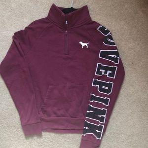 Pink! Plum Half-zip Sweatshirt